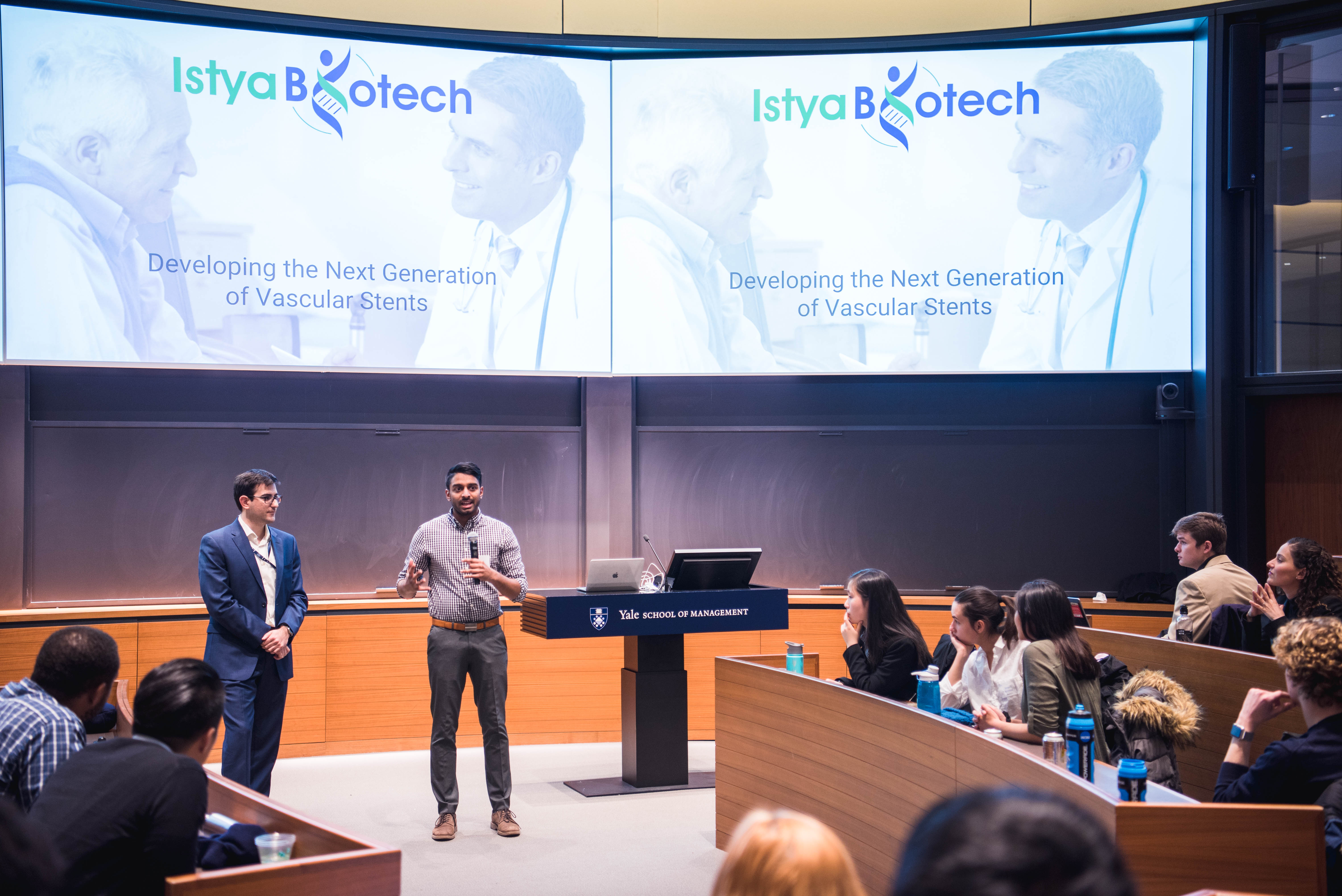 Students pitch vascular stent project