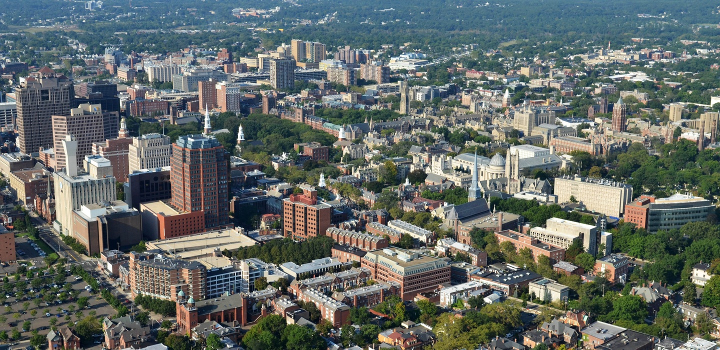 Aerial view of New Haven