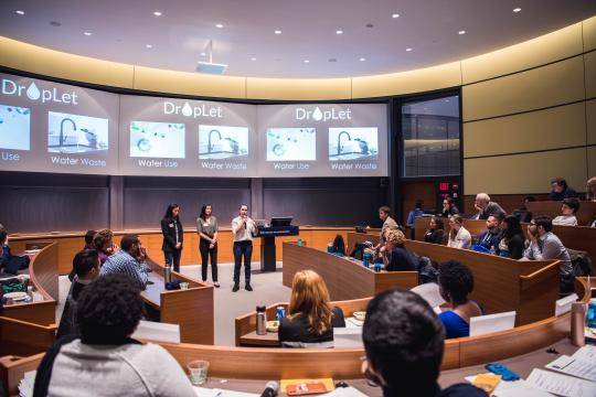 Students pitch water use monitoring product